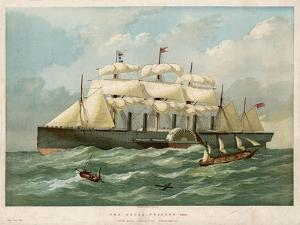 The Steamship of Brunel and Scott Russell in Full Steam by Edwin Weedon