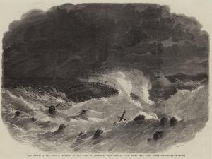 The Wreck of the Royal Charter on the Coast of Anglesea by Edwin Weedon