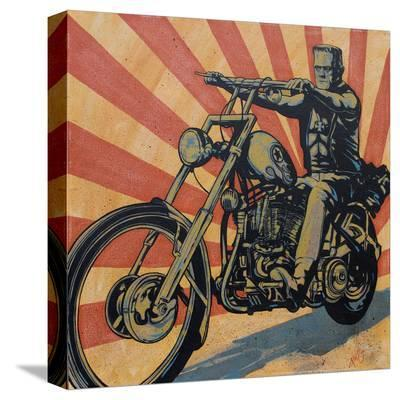 Eerie Rider-Mike Bell-Stretched Canvas Print