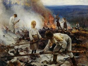 Under the Yoke (Burning the Brushwoo) by Eero Järnefelt