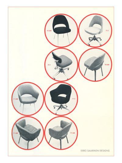 Eero Saarinen Chairs--Art Print