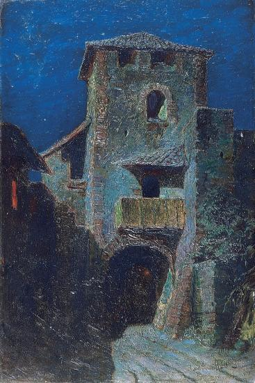 Effect of the Moon over Antique Architecture-Mario De Maria-Giclee Print