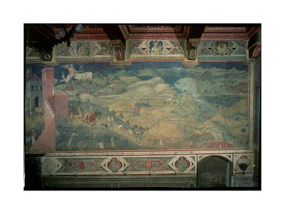 Effects of Good Government in the Countryside, 1338-40-Ambrogio Lorenzetti-Giclee Print