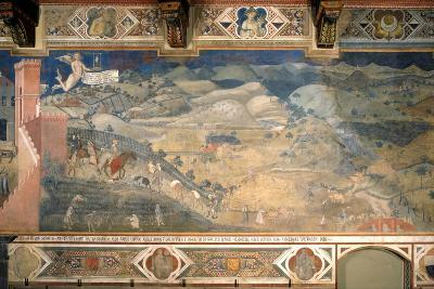 Effects of Good Government in the Countryside-Ambrogio Lorenzetti-Photographic Print