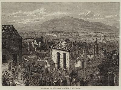 Effects of the Gunpowder Explosion at Bryn-Mawr--Giclee Print