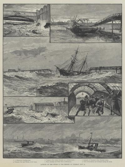 Effects of the Storm in the Mersey on Tuesday, 1 November-William Heysham Overend-Giclee Print