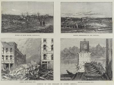 Effects of the Tornado in North America--Giclee Print