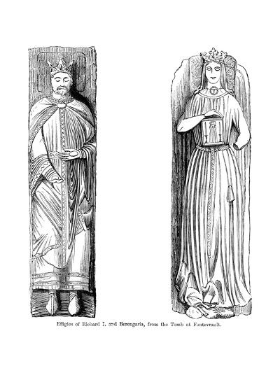 Effigies of Richard I and Berengaria, from the Tomb at Fontevrault Abbet, France--Giclee Print