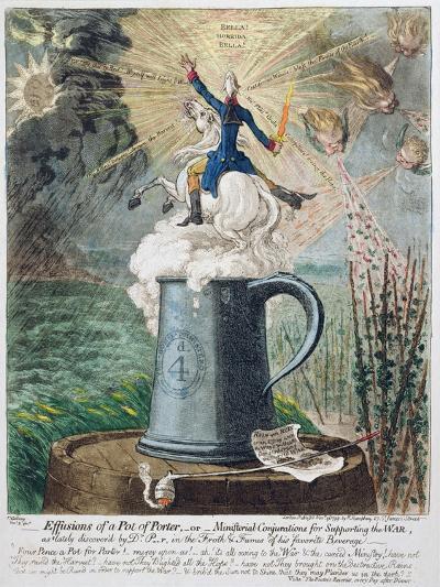 Effusions of a Pot of Porter-James Gillray-Giclee Print