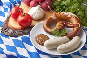 Bavarian White Sausages with Sweet Mustard and Bretzels by egal