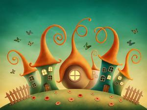 Fantasy Houses in the Meadow by egal