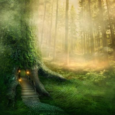 Fantasy Tree House in Forest by egal