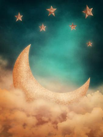 Moon And Stars by egal