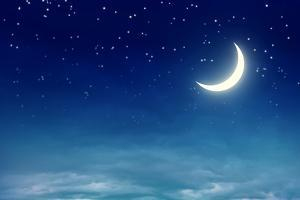 Nightly Sky with Moon and Stars by egal