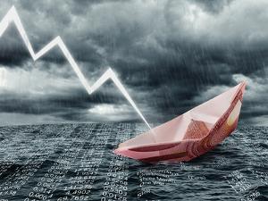 Sinking Euro Ship. Crisis Concept by egal