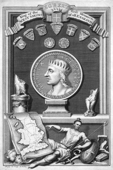 Egbert the Saxon, First King of All England-George Vertue-Giclee Print