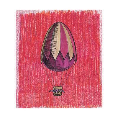 Egg Balloon for Easter-tannene-Art Print