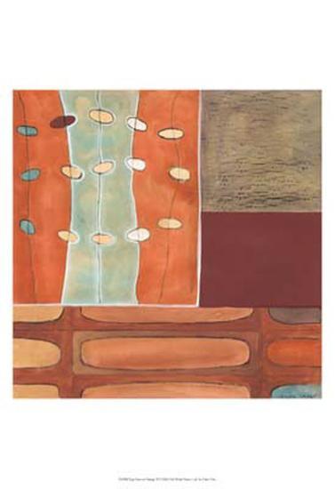 Egg Hunt in Orange II-Erica J^ Vess-Art Print