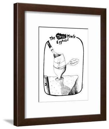 "Egg with face saying ""How 'bout those existentialists!"". - New Yorker Cartoon-Stephanie Skalisky-Framed Premium Giclee Print"