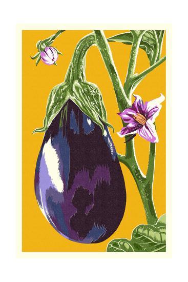 Eggplant-Lantern Press-Art Print