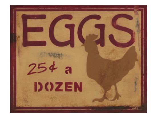 Eggs-Norman Wyatt Jr^-Art Print