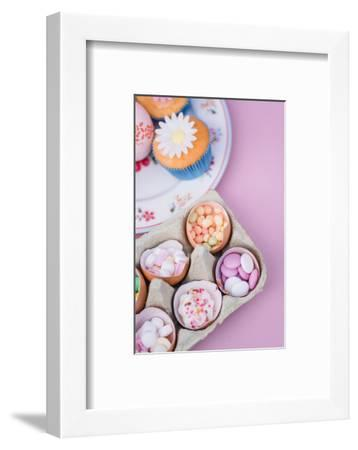 Eggshells filled with sweets, still life-mauritius images-Framed Photographic Print