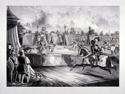 Eglinton Tournament, the Tilt-Yard of the 19th Century, Near the Regent's Park, London, 1839-Benjamin Waterhouse Hawkins-Giclee Print
