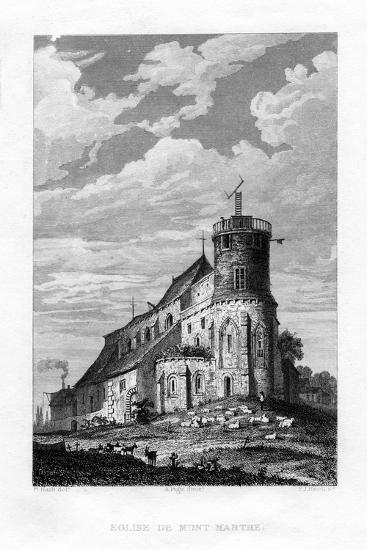 Eglise De Mont Martre, Paris, France, 1829-PJ Havell-Giclee Print