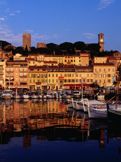 Eglise Notre Dame D'esperance Overlooking the Harbour at Dawn, Cannes, France-Richard I'Anson-Photographic Print
