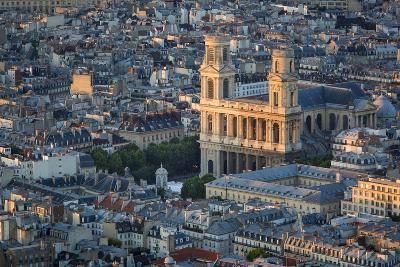 Eglise Saint Sulpice and the Buildings of Paris, France-Brian Jannsen-Photographic Print
