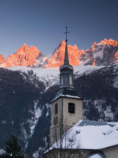 Eglise St. Michel, French Alps, Chamonix, France-Walter Bibikow-Photographic Print