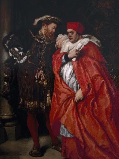 Ego Et Rex Meus, 1888; King Henry VIII and Cardinal Wolsey-John Gilbert-Giclee Print