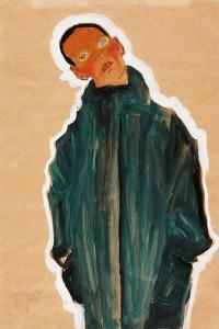 Boy in Green Coat, 1910 by Egon Schiele