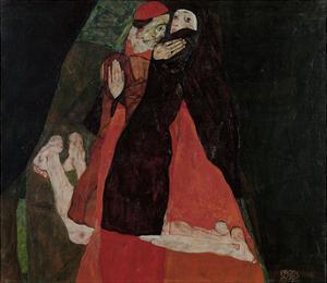 Cardinal and Nun (Caress) by Egon Schiele