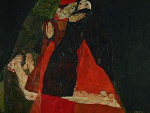 Cardinal and Nun (Liebkosung), 1912 by Egon Schiele