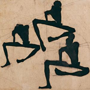 Composition with Three Male Nudes, 1910 by Egon Schiele