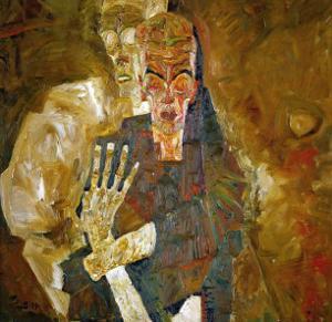Death and Mann, Tod Und Mann or Selbstseher (II) by Egon Schiele
