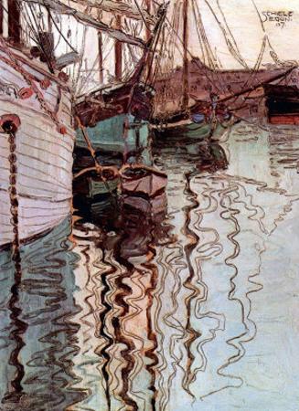Der Hafen von Triest by Egon Schiele