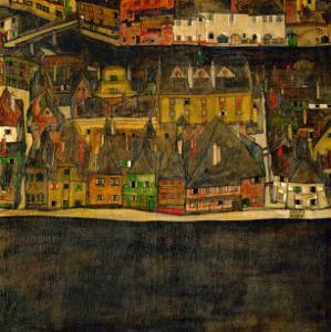 Die Kleine Stadt (II) or Kleine Stadt (III) Assembled from Separate Parts by Egon Schiele