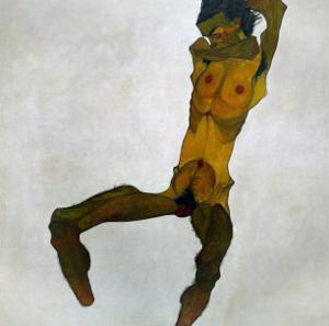 Egon Schiele, Self-Portrait, Nude by Egon Schiele