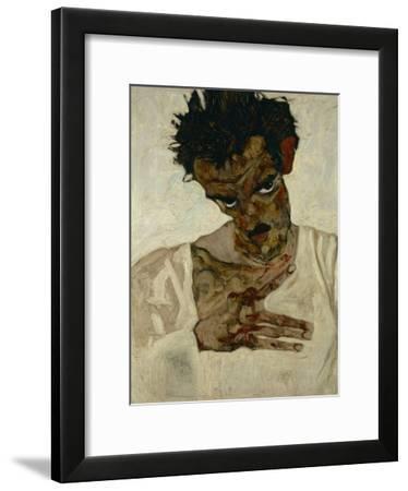Egon Schiele, Self-Portrait with Bent Head, Study for Eremiten (Hermits)