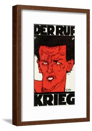 Envelope (Using a Self-Portrait by Egon Schiele of 1910) of the Magazine 'Der Ruf'