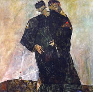 Eremiten (Hermits) Egon Schiele and Gustav Klimt by Egon Schiele