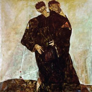 """""""Eremiten"""" (Hermits) Egon Schiele and Gustav Klimt by Egon Schiele"""