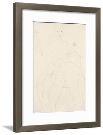 Erotic Scene (Self-Portrait); Erotische Szene (Selbstportrat), 1911