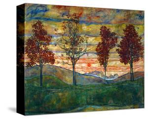 Four Trees, 1918 by Egon Schiele