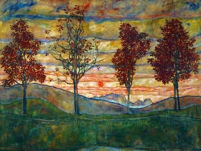 Four Trees, c.1917