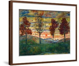 Four Trees, c.1917 by Egon Schiele
