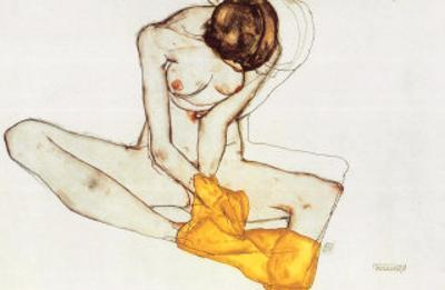 Girl with Yellow Scarf by Egon Schiele