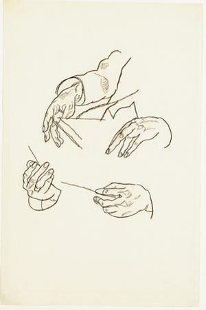 Hands, Studies for a Portrait of Dr. Hugo Koller by Egon Schiele